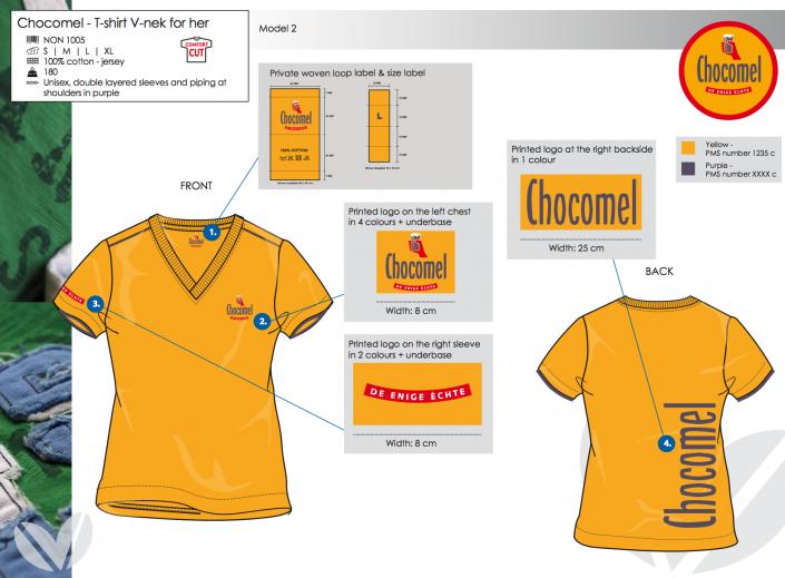 chocomel kledingontwerp